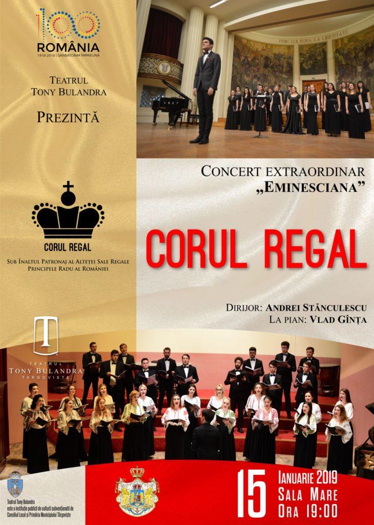 [:ro]CORUL REGAL - Concert coral dedicat lui Mihai Eminescu[:] @ Teatrul Tony Bulandra - Sala Mare | Târgoviște | Județul Dâmbovița | România