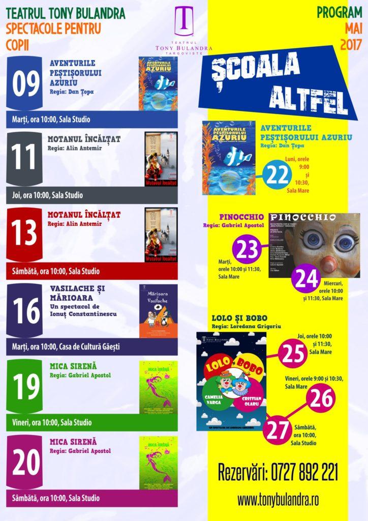 Program Spectacole Copii 2016-2017