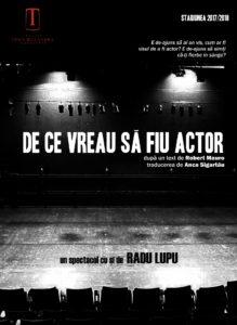 [:ro]DE CE VREAU SĂ FIU ACTOR - Spectacol invitat în scop caritabil[:] @ Teatrul Tony Bulandra - Sala Mare | Târgoviște | Județul Dâmbovița | Romania