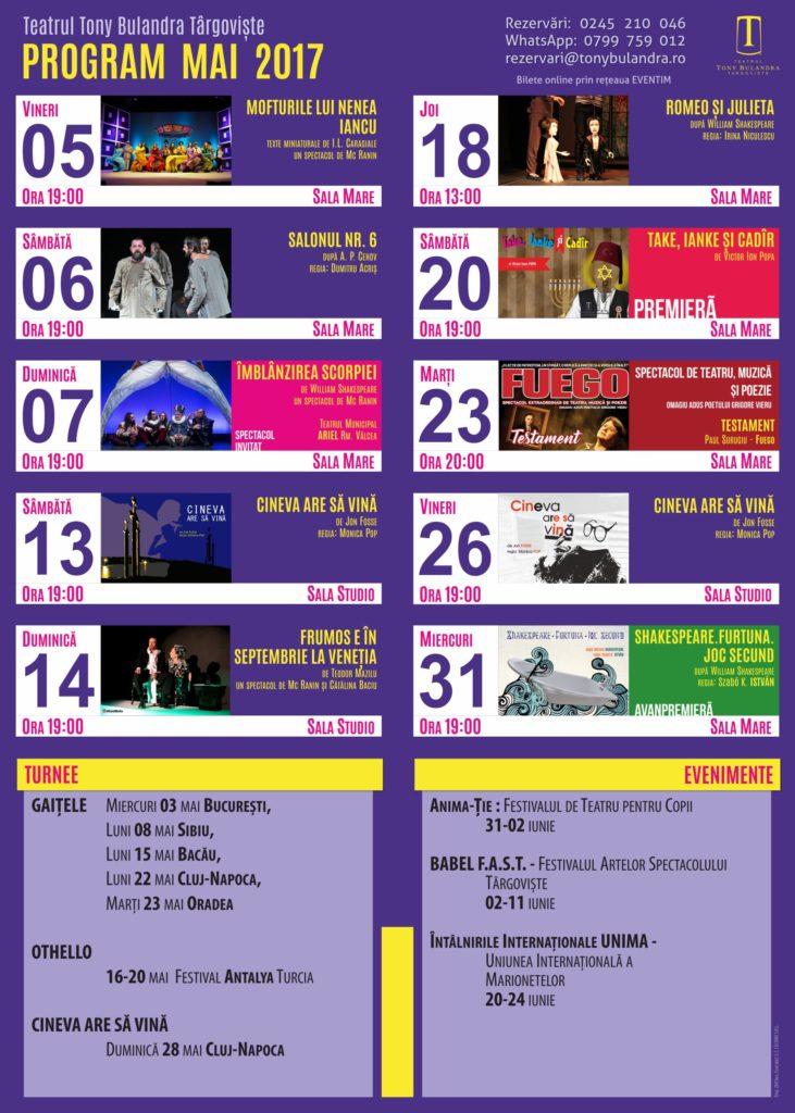 Program Spectacole 2016-2017