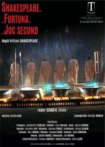 [:ro]SHAKESPEARE.FURTUNA.JOC SECUND[:] @ Teatrul Tony Bulandra - Sala Mare | Târgoviște | Județul Dâmbovița | Romania