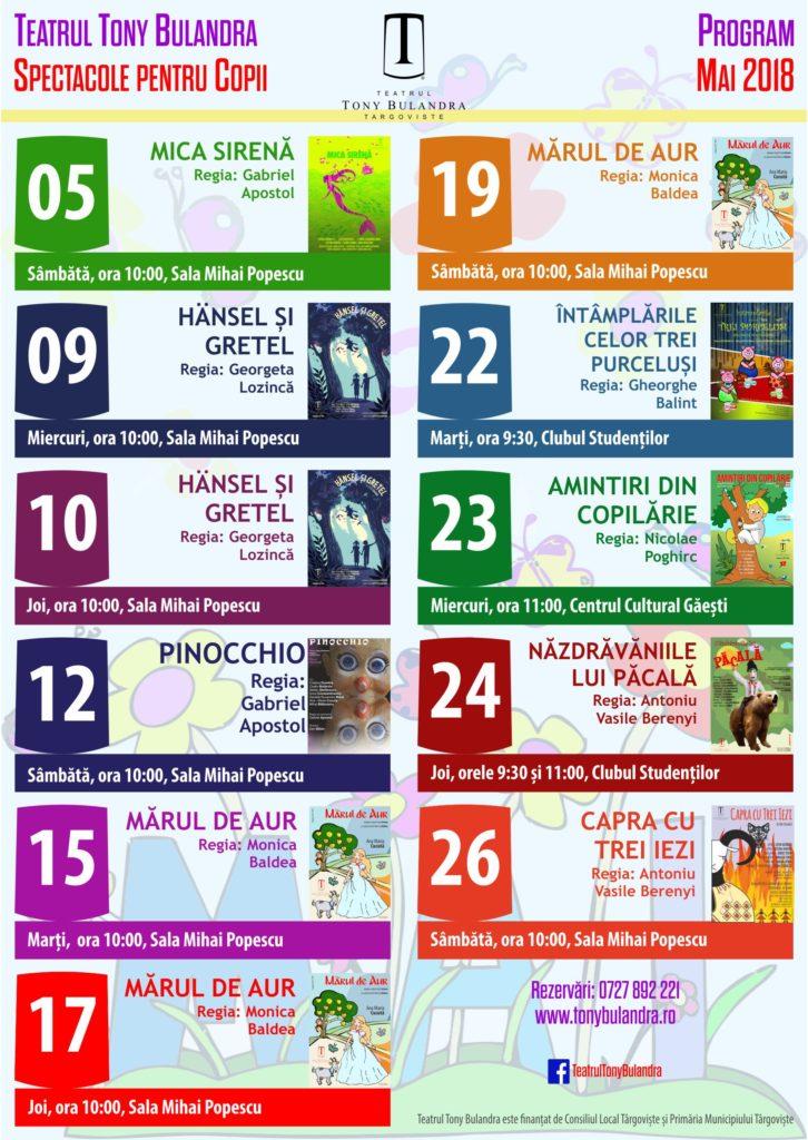 Program Spectacole Copii 2017-2018