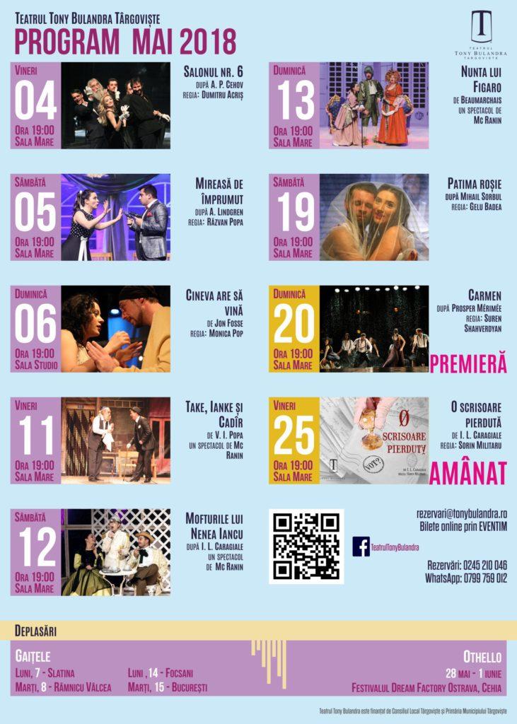 Program Spectacole 2017-2018