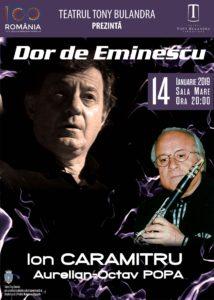 [:ro]DOR DE EMINESCU - Spectacol de muzică și poezie[:] @ Teatrul Tony Bulandra - Sala Mare | Târgoviște | Județul Dâmbovița | România