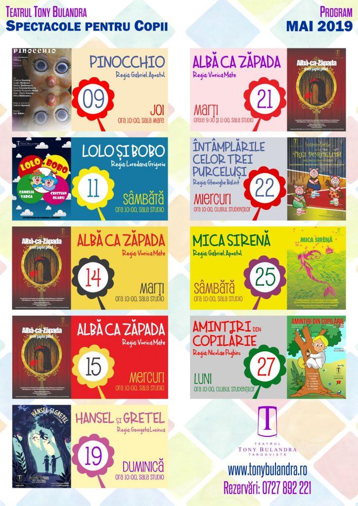 Program Spectacole Copii 2018-2019