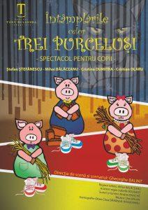 ÎNTÂMPLĂRILE CELOR TREI PURCELUȘI @ Teatrul de vară - Parcul Chindia | Târgoviște | Județul Dâmbovița | România