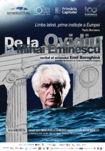 [:ro]DE LA OVIDIU LA MIHAI EMINESCU - Spectacol invitat[:] @ Teatrul Tony Bulandra - Sala Mare