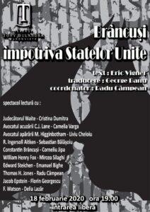 [:ro]BRÂNCUȘI ÎMPOTRIVA STATELOR UNITE - Spectacol-lectură[:] @ Teatrul Tony Bulandra - Foaier | Târgoviște | Județul Dâmbovița | Romania